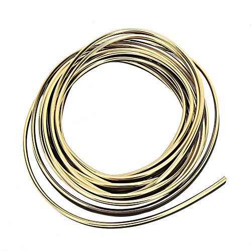 Suuonee Car Moulding Trim, 5m Universal Automobile Rubber Car Interieur Exterior Überzogene Moulding Trim Strip Line Protector Decor -