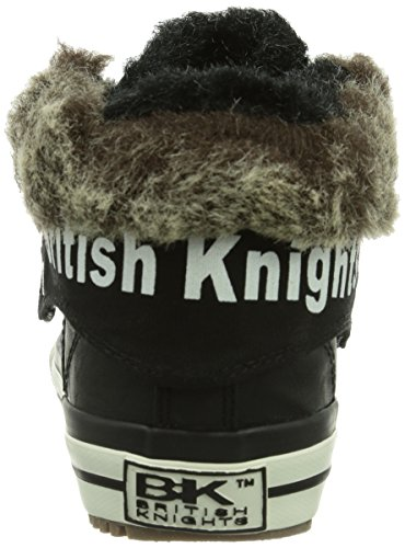British Knights Roco, Baskets hautes mixte enfant Noir - Schwarz (Black05)