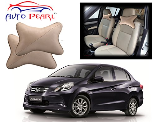 Auto Pearl - Premium Make Beige Car Neck Cushion/Neck Pillow for Honda Amaze  available at amazon for Rs.399