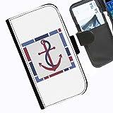 Hairyworm- Nautisch Seiten Leder-Schützhülle für das Handy Sony Xperia Z (C6603, C6602)