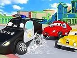Die kleinen Autos stecken fest/Der Bahnlinien-Unfall