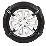 Pueri Auto-Reifen-Ketten Universal Schneeketten Anti Skid Nail Auto Snow Tire Ketten Fit für die meisten Auto Truck (Schwarz, 4 Stück)