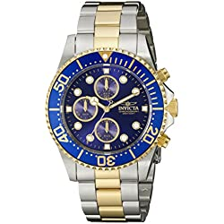 Invicta 1773 43mm Gold Steel Bracelet & Case flame fusion Men's Watch