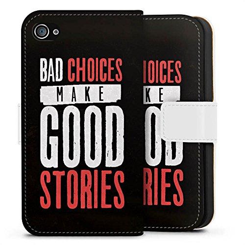 Apple iPhone X Silikon Hülle Case Schutzhülle Sprüche Humor Statement Sideflip Tasche weiß