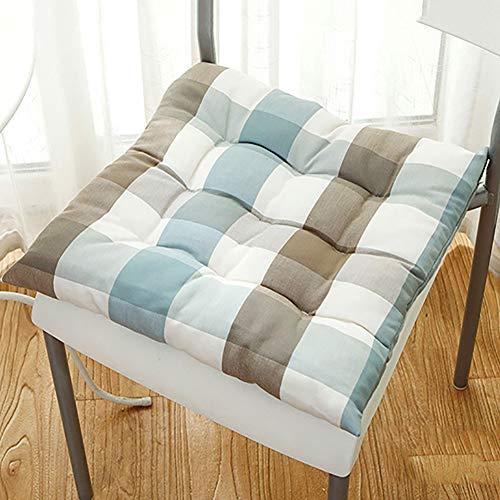 Zxy tatami antiscivolo cuscini sedie,cotone cravatte cuscino della sedia accogliente quadrata seat pad patio ufficio casa o auto seduta-a 45x45cm(18x18inch)