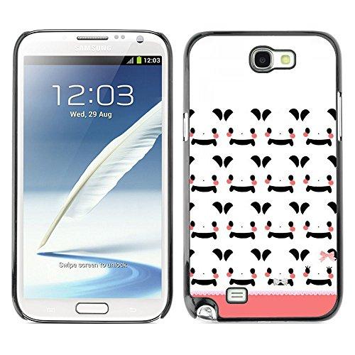 GooooStore/Dura Custodia Rigida della copertura della cassa - White Japan Cartoon Peach Pattern - Samsung Galaxy Note 2 N7100 - 2 ° Fast Peach