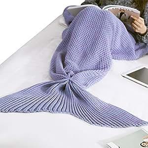 weiche kuscheldecke meerjungfrau schwanz wolldecke bettdecke blankets h keln schlafs cke f r. Black Bedroom Furniture Sets. Home Design Ideas