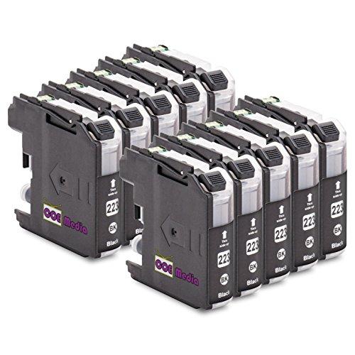 Preisvergleich Produktbild 10er Set - kompatible Tintenpatronen zu BROTHER LC223 BK | 10x Schwarz mit 20ml Inhalt | geeignet für Brother DCP-J4120DW MFC-Ink, MFC-J4420DW 4-in1, MFC-J4620DW 4-in-1, MFC-J4625DW, MFC-J4425DW Brother DCP-J 4120 DW, MFC-J 4420 DW, MFC-J 4425 DW, MFC-J 4620 DW, MFC-J4625 DW