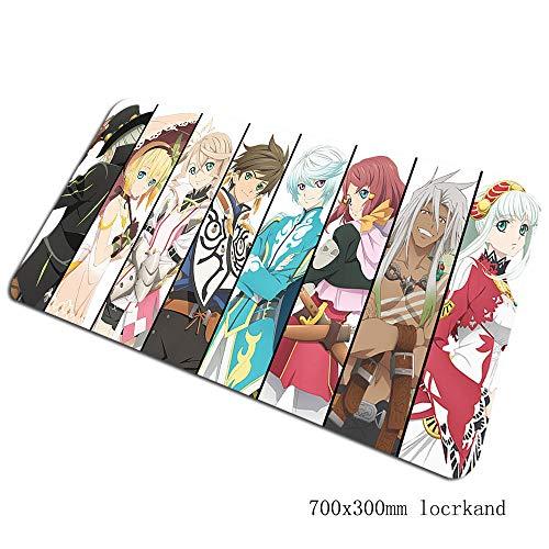 SKTCNB Geschichten Von Mauspads 70X30Cm Handballenauflage Notbook Computer Anime Pc Gaming Gamer Tastatur Mauspad Farbe F