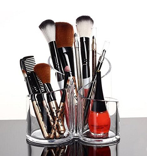 Flipco Transparent Acrylic Cosmetic Makeup Organizer//Lipstick Holder//Display Stand//Nail Polish || Eyebrow Pencil Storage Box//Toothbrush Holder || Stationary Holder
