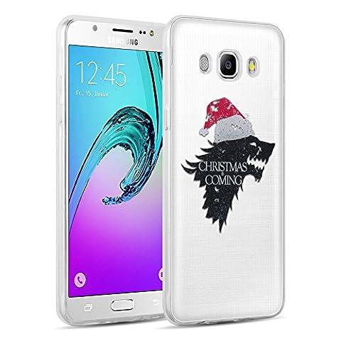 Coque Galaxy J5 2016 silicone transparente | JammyLizard | Coque silicone transparente pour Galaxy J5 2016 coque souple originale coque de Noel, GOT