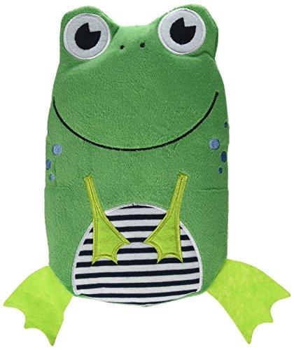 Wärmflasche Frosch Velour grün