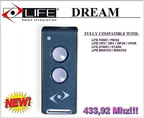 LIFE DREAM 3-kanal handsender. 433,92Mhz Rolling code!!! Die neue Version von Life FIDO, Life VIP, Life STAR und Life BRAVO