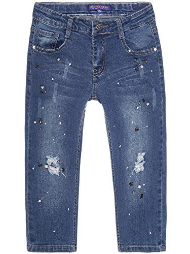 BEZLIT Mädchen Capri Jeans 3/4 Hose Destroyed 22672 Größe 116 (Capri-jeans Mädchen)