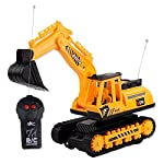 Busaky Kids Mini Electric RC Car Excavator Remote Control Crawler Digger Toys for Toddlers Children Christmas New Year Birthday Gifts