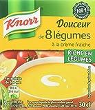 Knorr Soupe Douceur de 8 Légumes à la Crème Fraîche 300 ml - Lot de 6