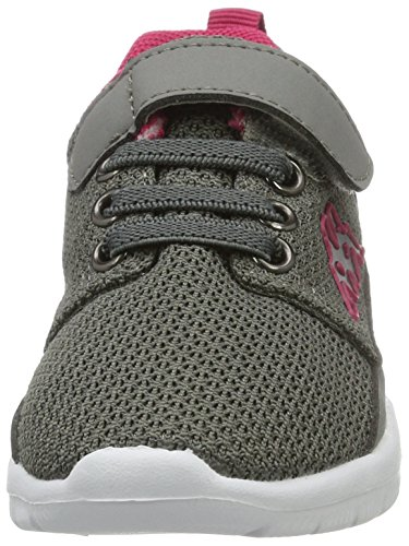 Kappa Speed 2.1, Sneakers Basses Fille Gris (Grey/l'pink)