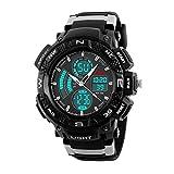 SKMEI Elios Analogue-Digital Dual Time Black Dial Multifunctional Men's Wristwatch