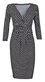 Glamour Empire. Women's Polka Dot Pencil Dress with Pockets. Empire Waist. 019