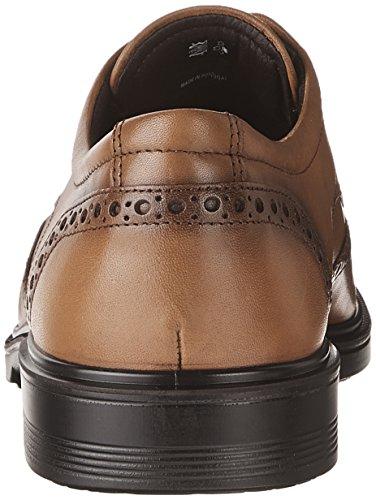 Ecco Lisbon, Chaussures Brooke Pour Homme Marron (ambre)