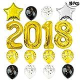 Mcree 13-pack (mit, Jumbo-Größe, goldfarben, schwarz und weiß silber Luftballons, 30,5cm, Latex-Luftballons, Ballons, Banner für-Skala-, Party-Zubehör