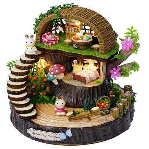 Jeffergarden DIY Handwerk Puppenhaus Kit Miniatur Modell Waldhaus Geschenk Home Decor