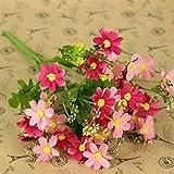 HuaYang Chrysanthème Bouquet de fleurs en tissu artificielle pour la fête(Peach)