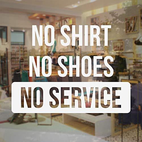eine Schuhe Kein Service Business Sign Aufkleber Glasfenster Vinyl Aufkleber wasserdichte Tapete Fensterdekoration Bs05 57x42cm ()