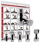 POWRX Kurzhanteln 2er Set | Hantelset Chrom mit Schaumstoffgriff | 5 Gewichtsvarianten 1kg 3kg 5kg 7kg 10kg | Kurzhantel-Set für Fitness-Übungen (2 x 3 kg)