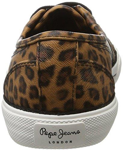 Pepe Jeans London Abernew Leo, Scarpe da Ginnastica Basse Donna Marrone (Tobacco)