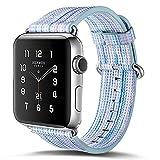 Armband für Apple Watch 42mm,PU Leder Ersatzband mit Edelstahl Gürtelschnalle Leder Uhrenarmband für Apple Watch 42mm Series 1/2/3 (A) (10)