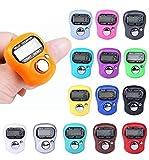 comtechlogic cm-4022 Finger Zähler Mini 5 Ziffern rückstellbar LCD elektronisch digital Golf Finger handgehalten Stückzähler, verschiedene Farben - 15 Random Colours