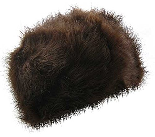 Ladies Russian Style Pillar Box Plush Faux Fake Fur Hats