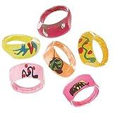 Unique Party- Bolsa de 6 anillos de plástico de moda (74009)