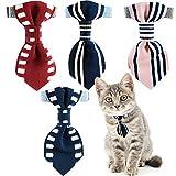 BPS® 2x Halskette für Haustiere Katzen Kätzchen oder kleine Hunde Form Schleife mit Glocke zufällige Farbe senden 30x 1cm bps-9905* 2