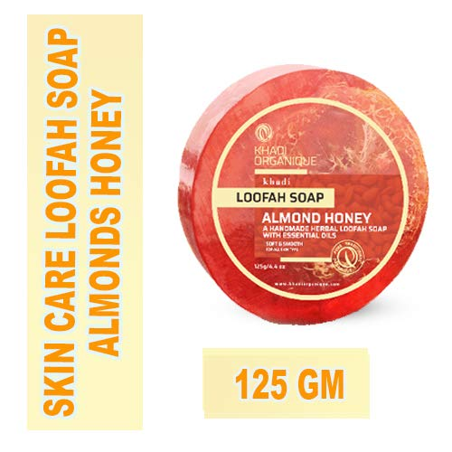 Khadi Organique Almond Honey Loofah Soap, 125 g