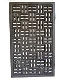 PROGOM - Felpudo Caucho Negro - 75 x 45 x 1.2 cm