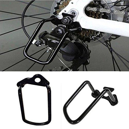 hunpta montaña ciclismo de carretera bicicleta desviador trasero para bicicleta accesorio de pantalla negro, negro