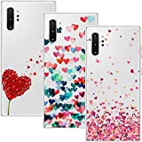 Young & Ming Cover Compatibile with Samsung Galaxy Note 10 Plus/Note10 Plus 5G, (3 Pack) Morbido Trasparente Silicone Custodie Protettivo TPU Gel Case, Amore