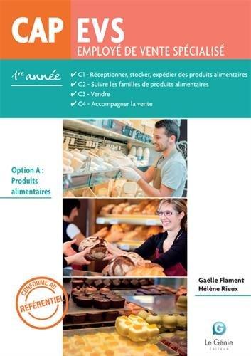 CAP EVS 1re année : Option A : Produits alimentaires