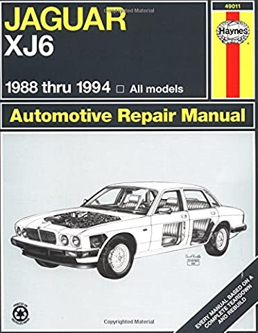 Jaguar XJ6 1988 thru 1994: All models