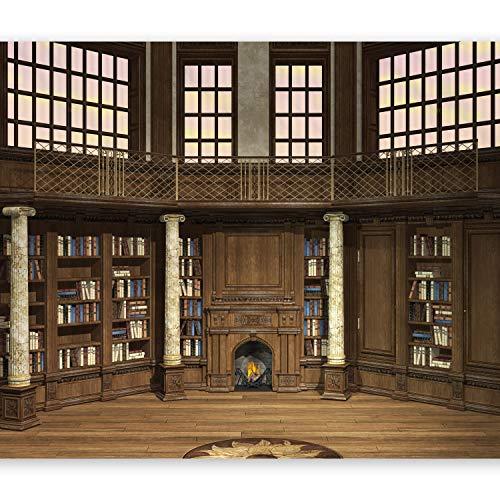 murando Papier peint intissé 400x280 cm Décoration Murale XXL Poster Tableaux Muraux Tapisserie Photo Trompe l'oeil Bibliotheque n-B-0004-a-a