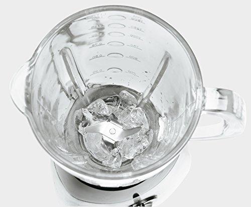 Ufesa BS4795 - Batidora de vaso de vidrio y acero inoxidable de 1.5L, potencia de 500W