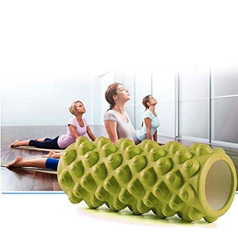 Hunpta 33cm Yoga Pilates Massage Fitness Gym Trigger Point Exercise Foam Roller (Green)