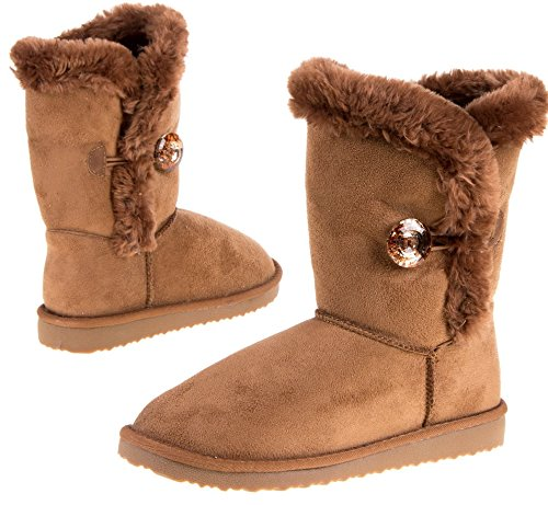 Boots Damenstiefel Winterstiefel, Farbe Camel, Gr. 39 (Winter Home Decor)