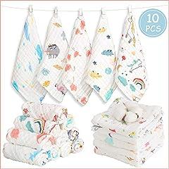 10pcs Baby Musselin Waschlappen Baby-Feuchttücher 100/% Baumwolle Baby Handtuch