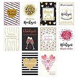 Set 10 hochwertige Designer Premium Hochzeitskarten mit feiner Veredelung und Umschlag. Glückwunschkarte zur Hochzeit. Geschenk Geld Geldgeschenk (Doppelkarten/Klappkarten mit Briefumschlag)