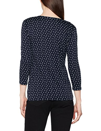 TOM TAILOR Draped Open Shirt, Blouse Femme Bleu (Real Navy Blue 6593)