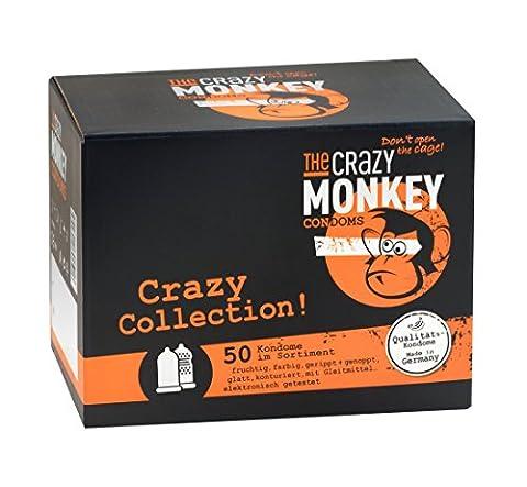 Die Crazy Monkey Crazy Collection Kondome–50Stück