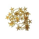 Weihnachten Hohlen Stern Weihnachtsbaum Dekorationen Ornamente Kugelkette Hängen - Gold
